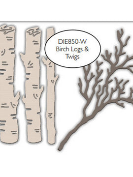 Impression Obsession - Dies - Birch Logs & Twigs