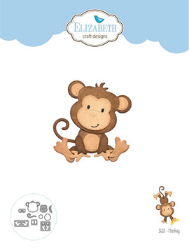 Elizabeth Craft Design - Dies - Monkey