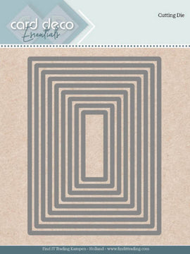 Card Deco Essentials - Dies - Rectangle Nesting Dies