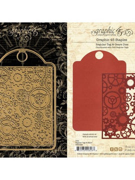 Graphic 45 - Dies - Regular Tag & Gears