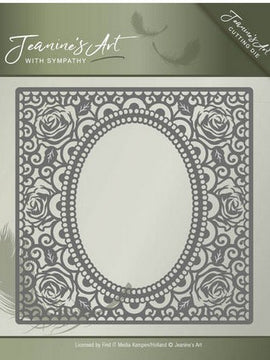 Jeanine's Art - Dies - With Sympathy - Rose Frame