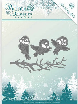 Jeanine's Art - Dies - Winter Classics - Winter Birds