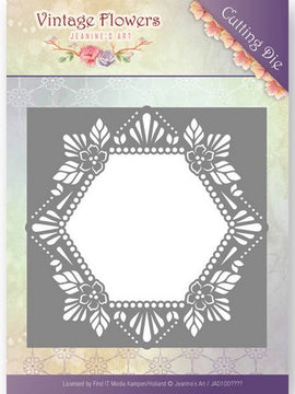 Jeanine's Art - Dies - Vintage Flowers - Floral Hexagon