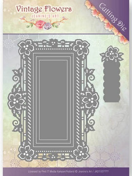 Jeanine's Art - Dies - Vintage Flowers - Floral Rectangle