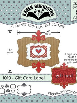 Karen Burniston - Dies - Gift Card Label