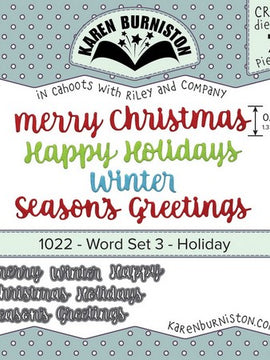Karen Burniston - Dies - Word Set 3 - Holiday
