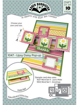 Karen Burniston - Dies - Upsy Daisy Pop Up