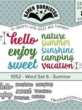 Karen Burniston - Dies - Word Set 6 - Summer