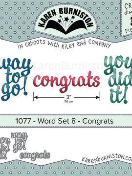 Karen Burniston - Dies - Word Set - Congrats