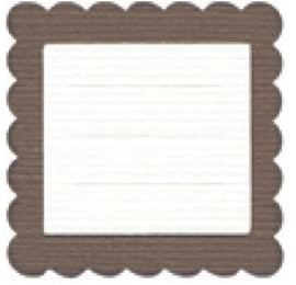Quickutz - 2 x 2 - Journaling Block (scallop square)