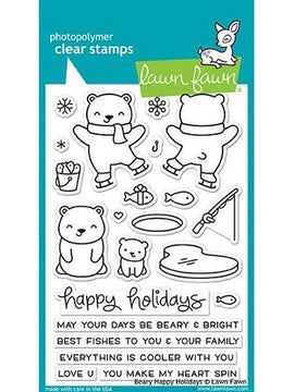 Lawn Fawn - Beary Happy Holidays Stamps