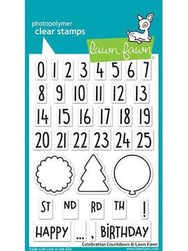 Lawn Fawn - Celebration Countdown Stamps