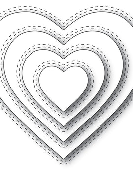 Memory Box - Dies - Double Stitch Loving Heart Cut Out