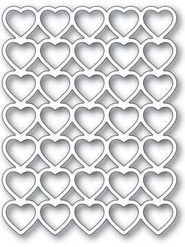 Poppystamps - Dies - Banded Hearts