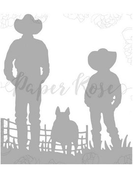 Paper Rose - Dies - Farmer With Boy
