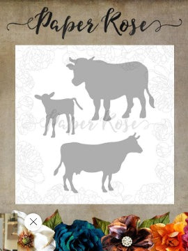 Paper Rose - Dies - Cow Family