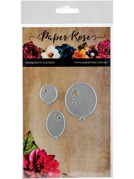Paper Rose - Dies - Balloons Trio Decorative