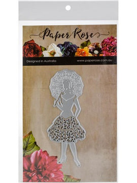 Paper Rose - Dies - Lady With Umbrella