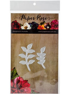 Paper Rose - Dies - Small Leafy Branches