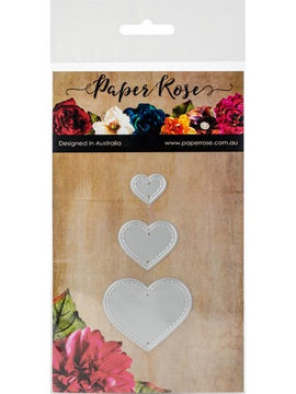 Paper Rose - Dies - Small Stitched Hearts