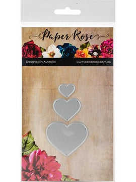 Paper Rose - Dies - Small Hearts