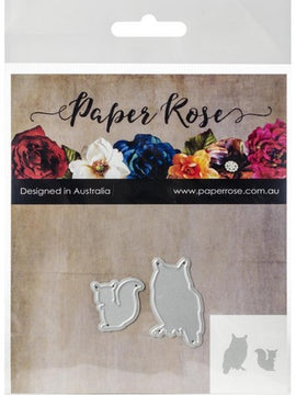 Paper Rose - Dies - Owl & Squirrel
