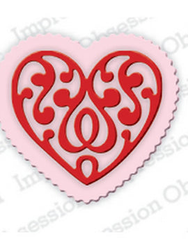 Serendipity Dies - Mini Scroll Heart & Scallop Heart