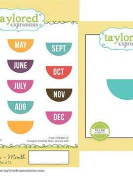 Taylored Expressions - Stamps & Dies -Journal Tabs - Month