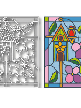 Tutti Designs - Dies - Birdhouse Stained Glass