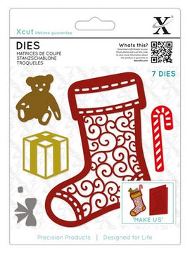 X-Cut Dies - Filigree Christmas Stocking