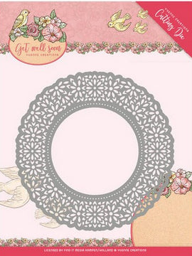 Yvonne Creations - Dies - Get Well Soon - Flower Doily