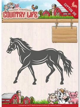 Yvonne Creations - Dies - Country Life - Horse
