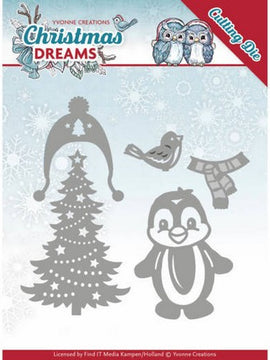 Yvonne Creations - Christmas Deams Collection - Christmas Penguin