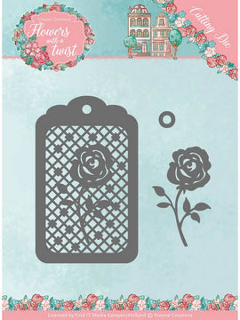 Yvonne Creations - Dies - Flowers With A Twist - Rose Label
