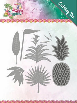 Yvonne Creations - Dies - Happy Tropics - Lush Leaves
