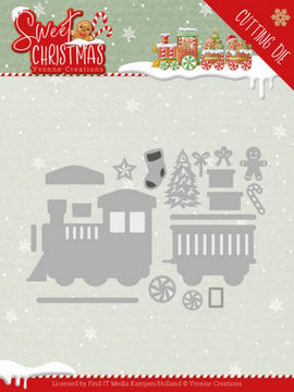 Yvonne Creations - Dies - Sweet Christmas - Sweet Christmas Train