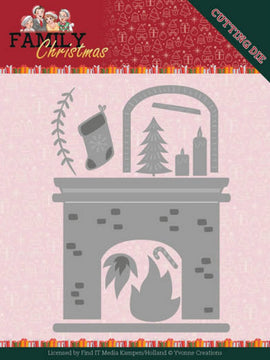 Yvonne Creations - Family Christmas - Dies - Fireplace