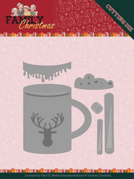Yvonne Creations - Family Christmas - Dies - Hot Drink