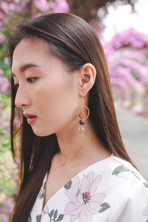 Alicia Drop Earrings in Savannah