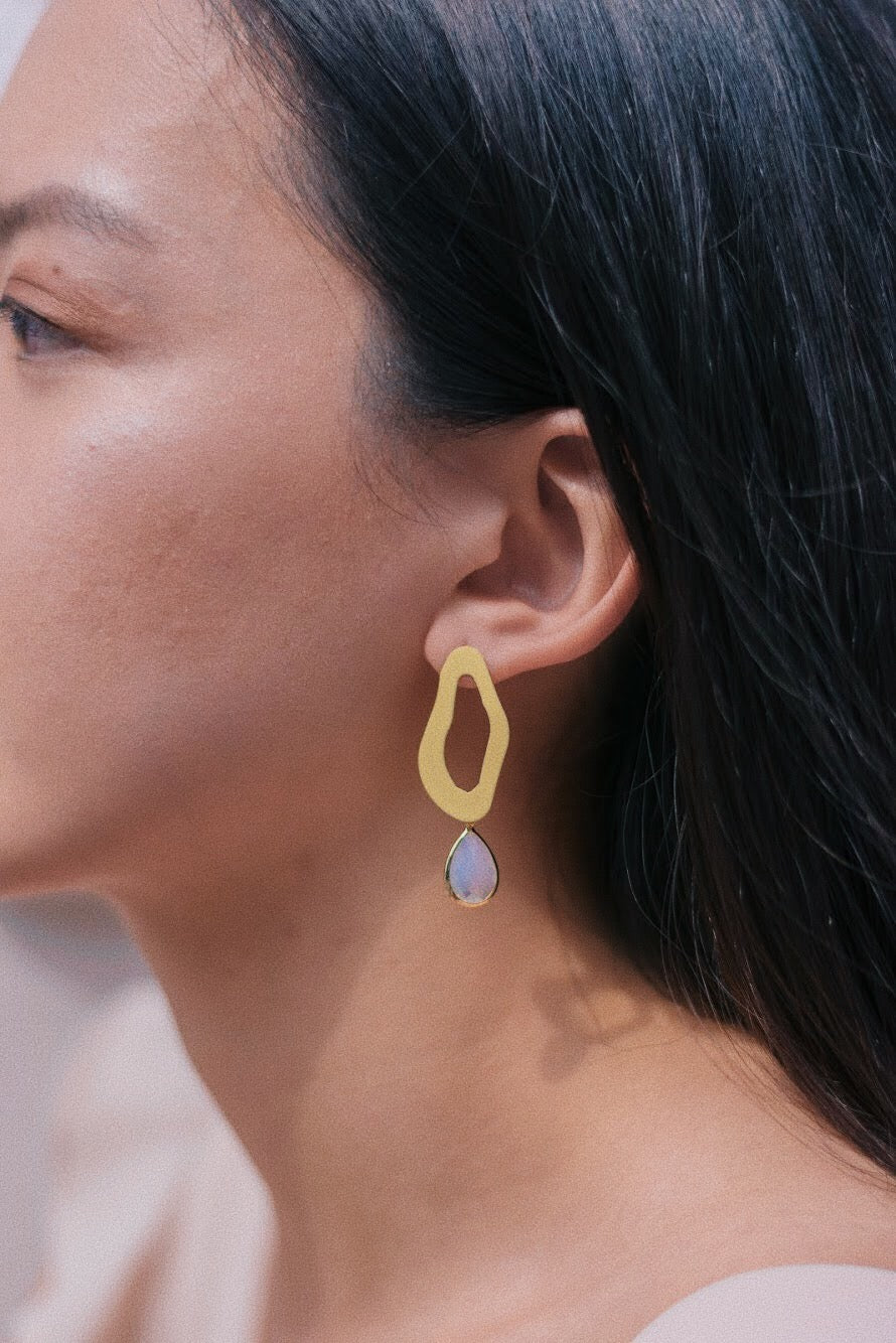 Estella Drop Earrings in Yellow