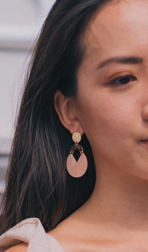 Aurelia Drop Earrings in Bubble Gum