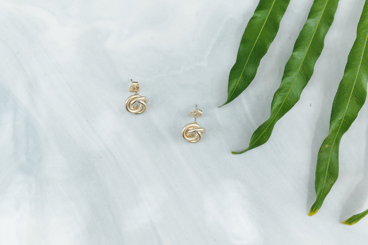 Prudence Gold Stud Earrings