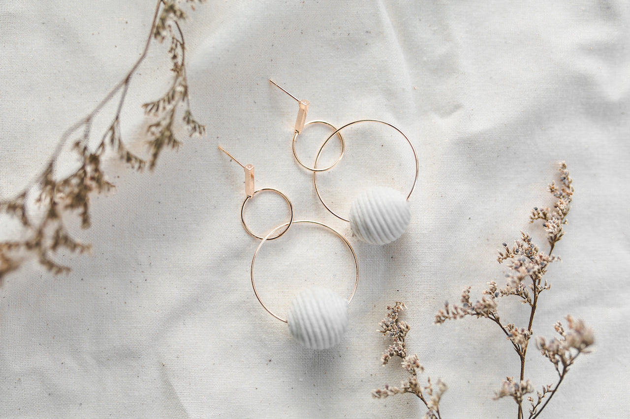 Signature Rattan Hoop Earrings