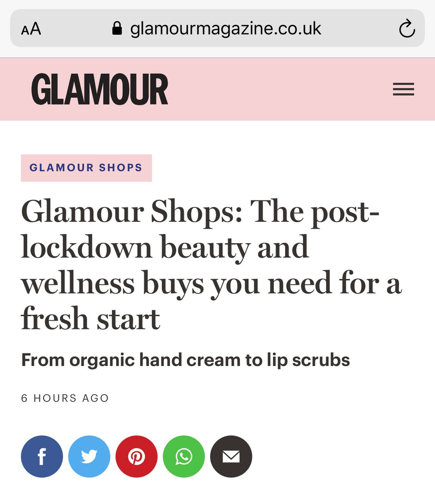 GLAMOUR MAGAZINE LOVES THE ARONSÈ EYESHADOW PALETTE