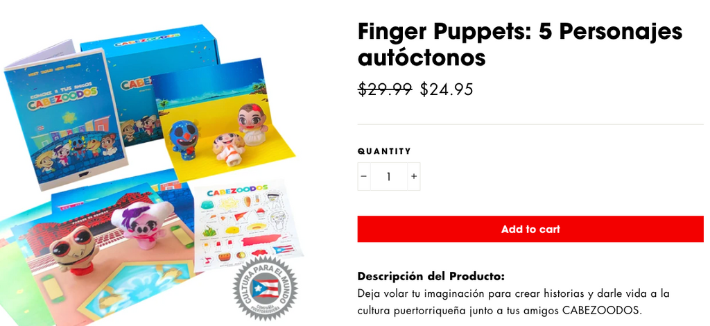 More info finger puppets