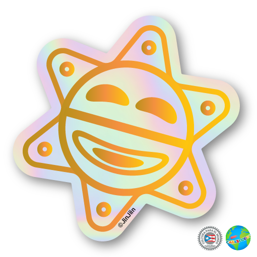 Sticker: Sol taíno [holographic]