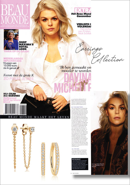 Sif Jakobs Jewellery - Earrings - Princess - Ellera in Beau Monde - gold with white zirconia