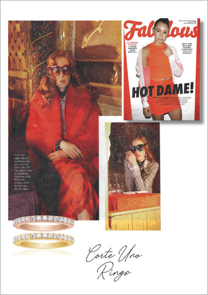 Sif Jakob's Jewelery Corte Uno ring in Fabulous Magazine - gold rose with white zirconia