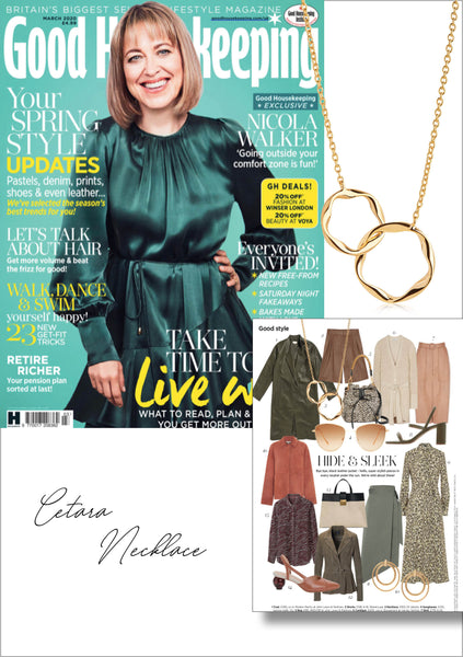 Sif Jakobs Jewellery Cetara necklace in Good Housekeeping - gold