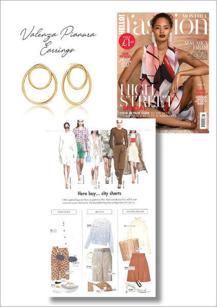 Sif Jakobs Jewelery - Valiano Earrings in Hello Fashion - Gold
